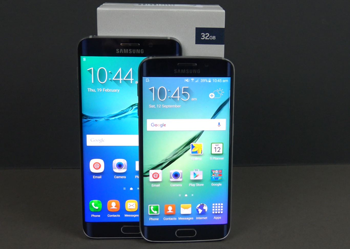 Size difference Samsung Galaxy S6 edge vs Samsung Galaxy S6 edge +