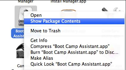 Bootcamp Assistant Show Package Contents
