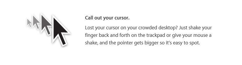 Download OS X El Capitan - Call out your cursor