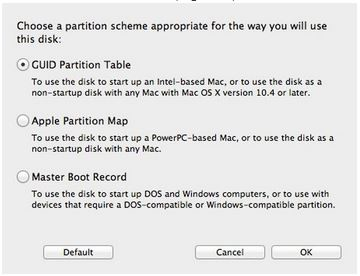 Disc Utility - GUID Partition Table