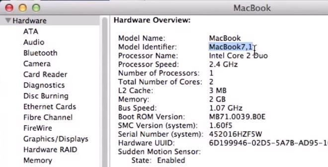 Hardware Overview Mac