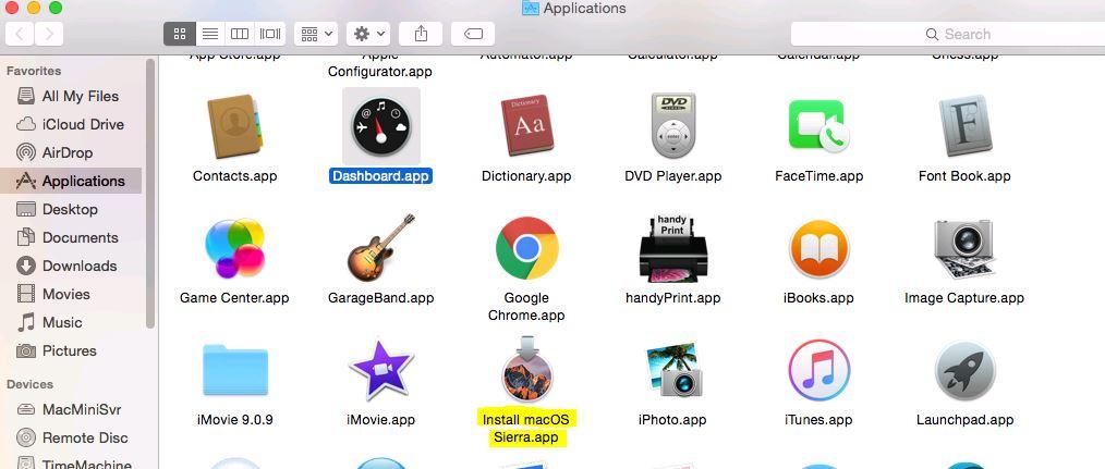 macOS Sierra app