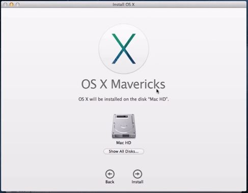Upgrade OS X Mountain Lion to Mavericks