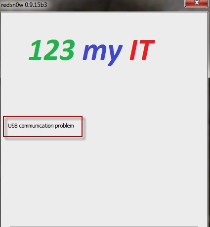 Redsn0wUSB communication Error