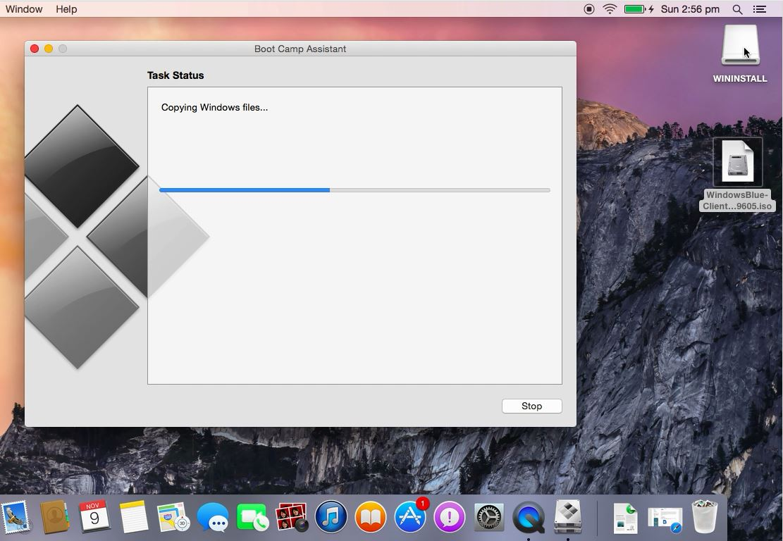 Bootable Windows 8.1 USB on a Mac running OSX Yosemite