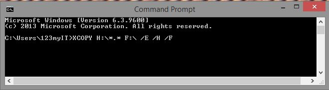 Xcopy Commands