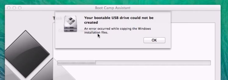 Your bootable USB drive could not be created
