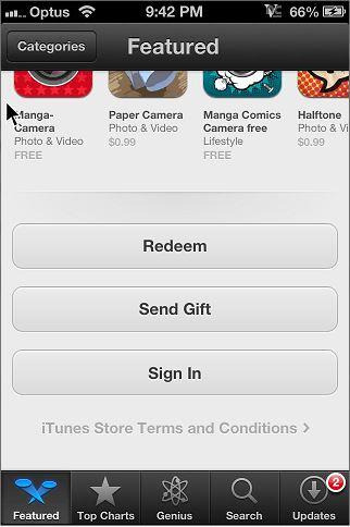 App Store Redeem