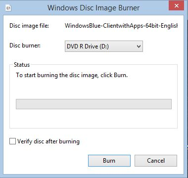 Burn iso files