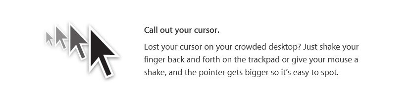 Download OS X El Capitan - Call out your cursor