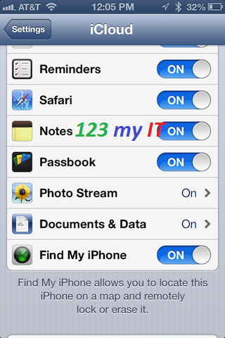 Find my iPhone iCloud Setting