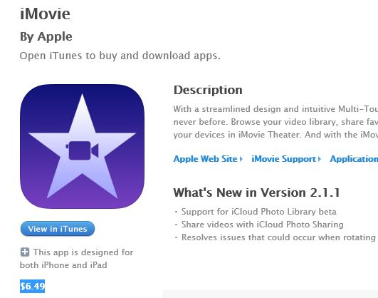 iMovie byr Apple