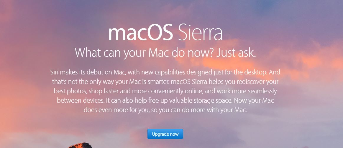 Download macOS Sierra