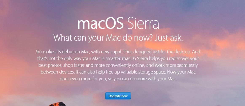 Download macOS Sierra