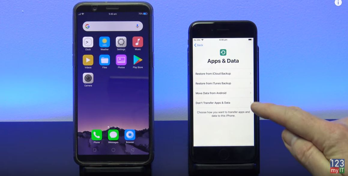 Oppo to iPhone apps and data
