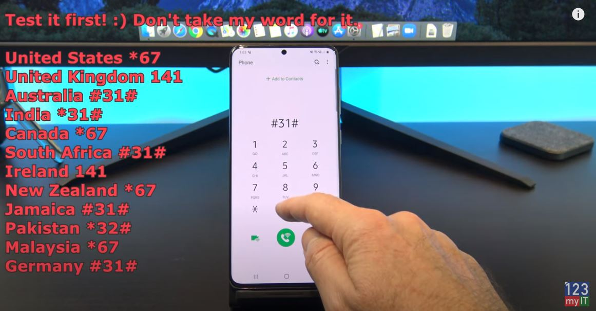 Private number on Android