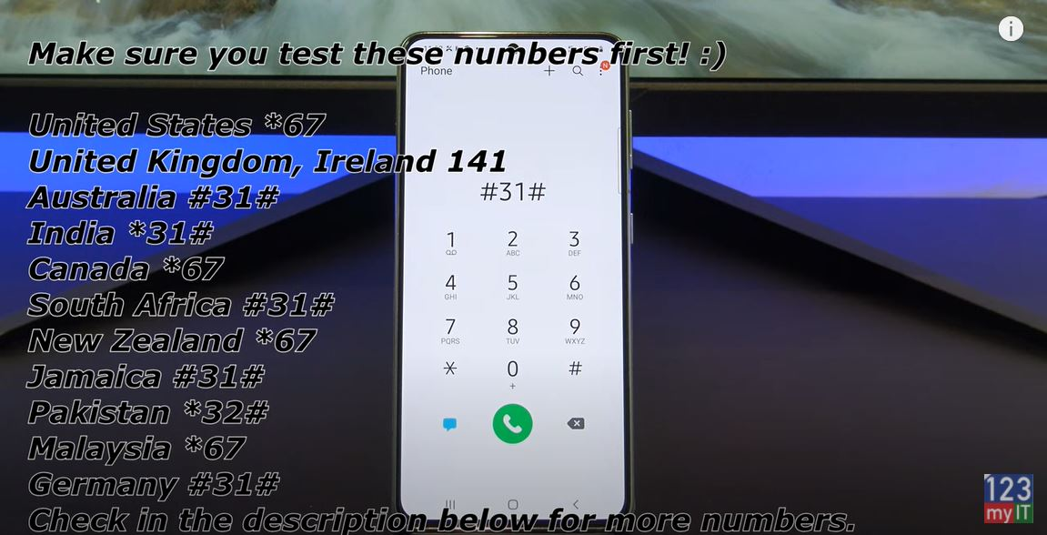 number private on android