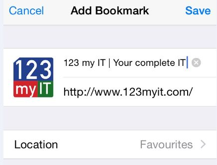 Save iOS Bookmark