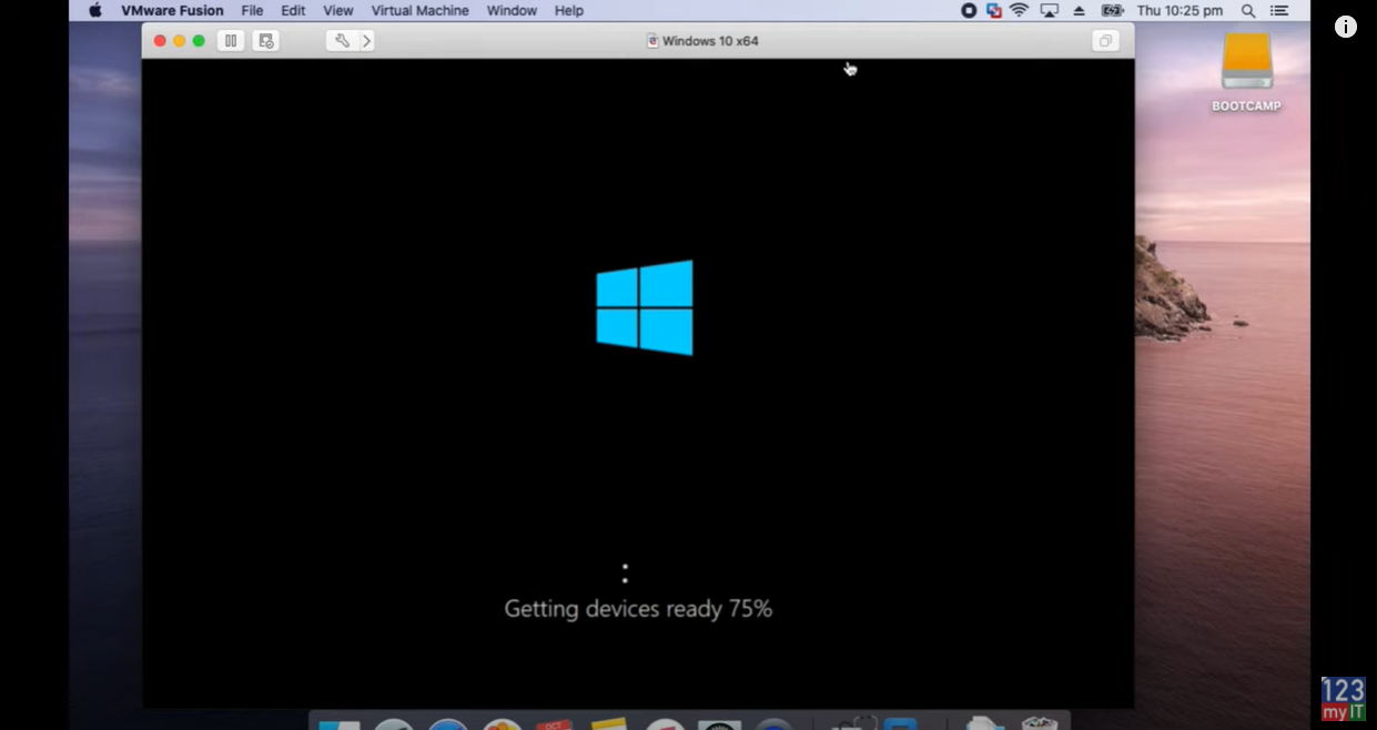 windows 10 on a mac external drive