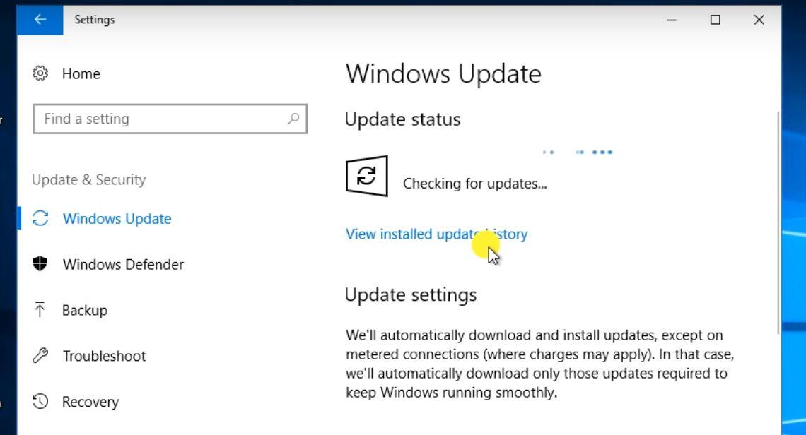 Windows 10 Mining